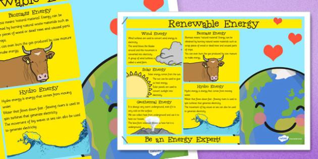 Renewable Energy Poster - renewable, energy, poster, display