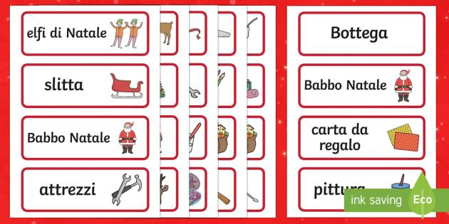 Bottega di Babbo Natale carte parola - Bottega di Babbo Natale, gioco di ruolo, Gioco, Natale, Buona natale, festivita\', Natalizio, buon