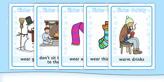 Winter Safety Display Posters - winter safety, display posters, display, posters, winter, safety