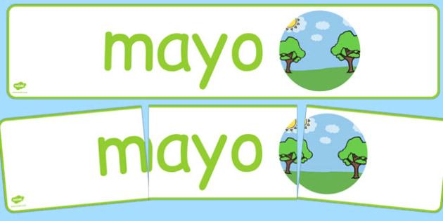 Pancarta - Mayo - meses, primavera, mural, estaciones