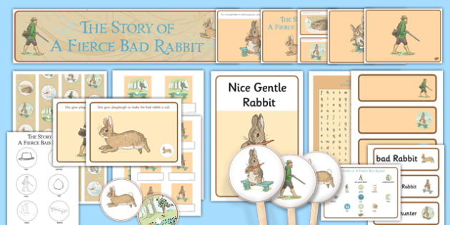 Beatrix Potter - The Story of a Fierce Bad Rabbit Resource Pack - beatrix potter, fierce bad rabbit