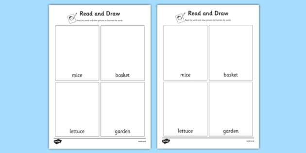 Beatrix Potter - The Tale of Benjamin Bunny Read and Draw Worksheet - beatrix potter, benjamin bunny