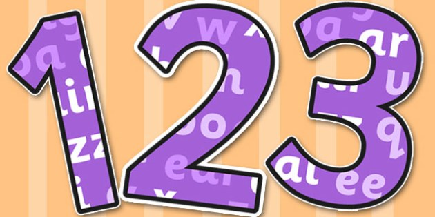 Phase 3 Themed A4 Display Numbers - number, displays, decorate