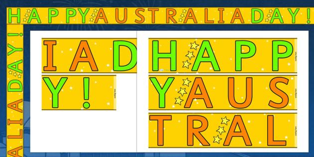 Happy Australia Day Display Borders - display, dispaly border, border, happy austalia day, australia day, happy australia day borders, happy australia display, classroom display border, border for a display, edging, display edging