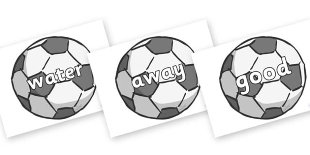 Next 200 Common Words on Footballs - Next 200 Common Words on  - DfES Letters and Sounds, Letters and Sounds, Letters and sounds words, Common words, 200 common words