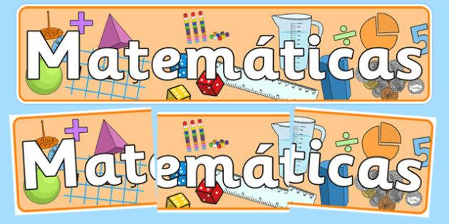 Matemáticas Display Banner Spanish - spanish, mathematics display banner, maths display banner, maths banner, mathematics display, mathematics, numeracy