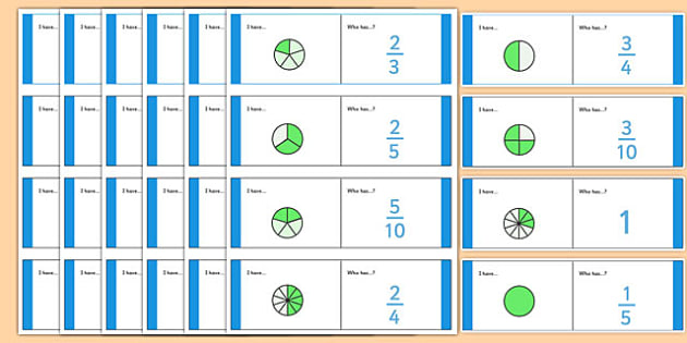Fractions Loop Cards - fractions bricks, fraction, fractions, decimal, percentage, one whole, half, third, quarter, fifth, proportion, part, numerator, denominator, equivalent, 1/3, 1/2, 1/4
