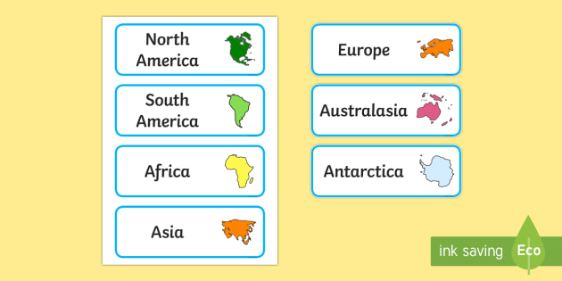 Continents Of The World - geography, continent, country, aid