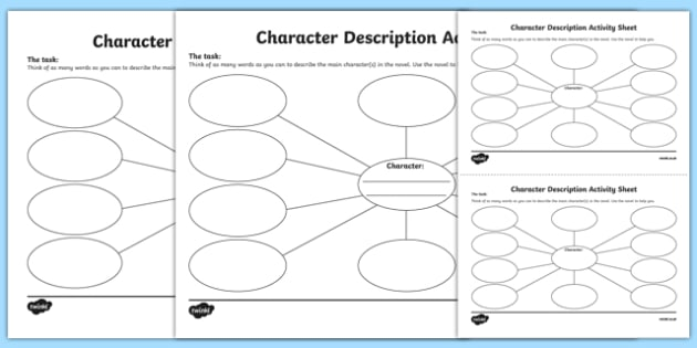 Character Description Activity Sheet Pack - Irish, worksheet