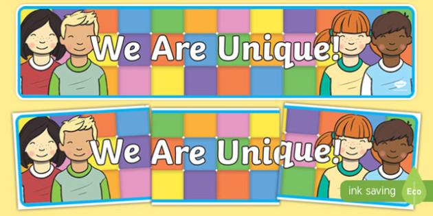 We are Unique Display Banner - we are unique, display banner, display, banner