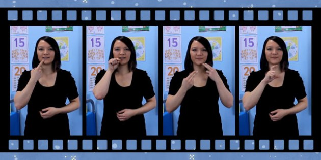 10 Christmas Food Signs in British Sign Language Video Clip - christmas, food signs, british, british sign language, bsl, video clip