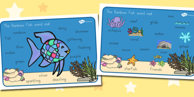 Word Mat Images to Support Teaching on The Rainbow Fish - australia, rainbow fish, word mat