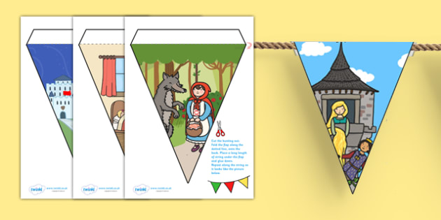 Traditional Tales Themed Bunting - traditional tales, traditional tales themed bunting, themed bunting, traditional tales bunting, bunting
