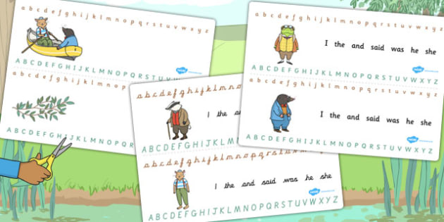 The Wind in the Willows Alphabet Strips - The Wind in the Willows