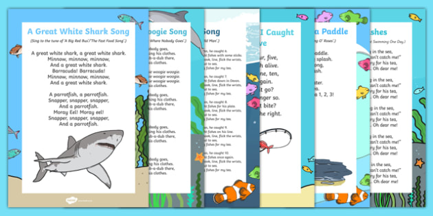 Under the Sea Songs and Rhymes Resource Pack