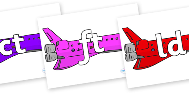 Final Letter Blends on Jets - Final Letters, final letter, letter blend, letter blends, consonant, consonants, digraph, trigraph, literacy, alphabet, letters, foundation stage literacy