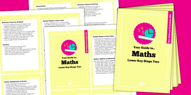 2014 Curriculum Cards LKS2 Maths - new curriculum, planning