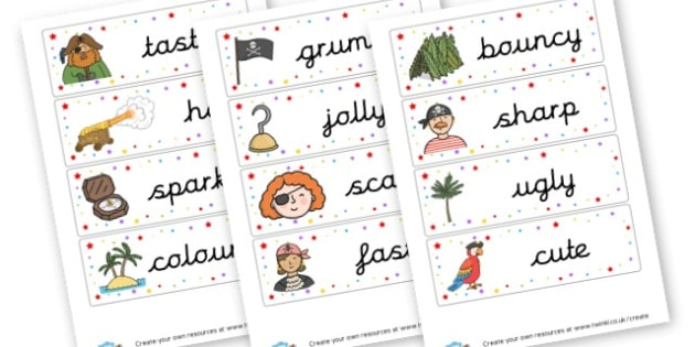 WOW Words Flashcards - Wow Words & Adjectives Primary Resources, cll, wow, keywords