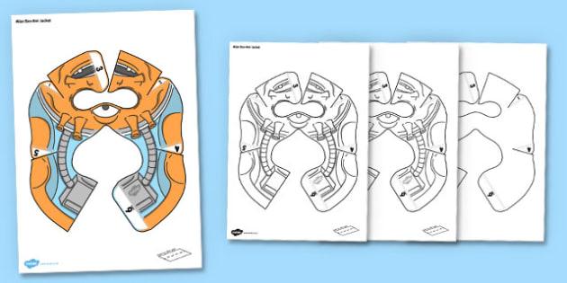 Alien Bee Bot jacket - alien, beebot, bee bot, bee-bot, jacket