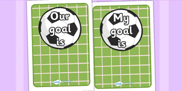 Going For Goals Editable - going for, goals, setting targets, achievements, editable, goal setting