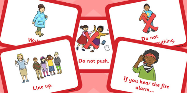 Fire Alarm Instructions Cards - fire alarm, instructions, cards