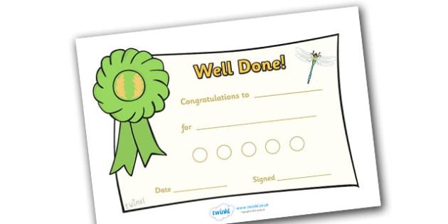 Minibeast Reward Certificate (15mm) - Reward Chart (15mm), reward chart, chart, reward, 15mm, 15 mm, stickers, twinkl stickers, award, certificate, well done, behaviour management, behaviour
