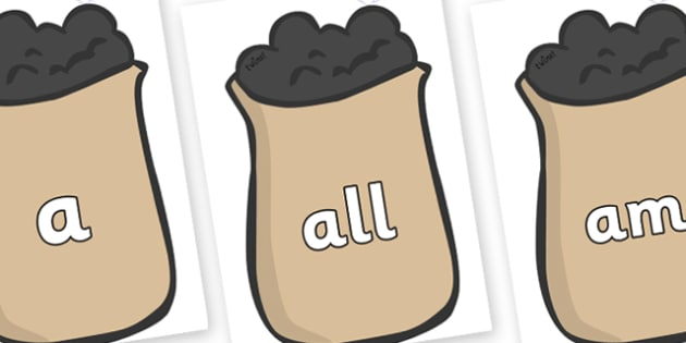 Foundation Stage 2 Keywords on Bags of Wool - FS2, CLL, keywords, Communication language and literacy,  Display, Key words, high frequency words, foundation stage literacy, DfES Letters and Sounds, Letters and Sounds, spelling