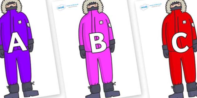 A-Z Alphabet on Arctic Explorers - A-Z, A4, display, Alphabet frieze, Display letters, Letter posters, A-Z letters, Alphabet flashcards