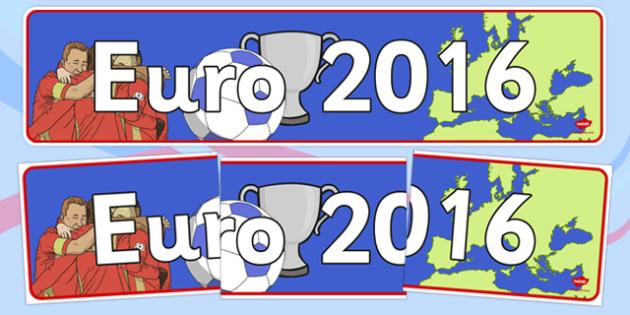 Euro 2016 Display Banner - euro 2016, football, euro, 2016, display banner