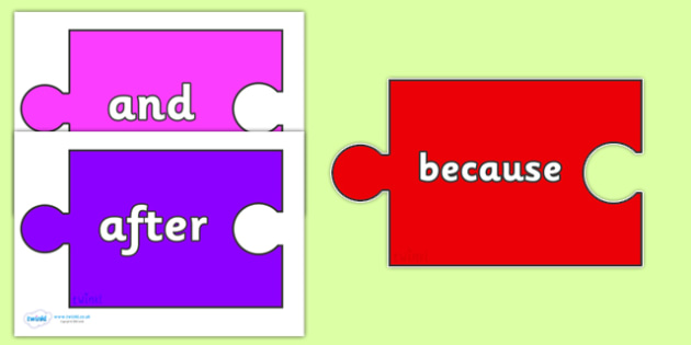 Conjunctions on Jigsaw Pieces - Connectives, VCOP, Conjunction