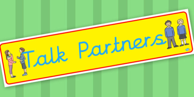 Talk Partners banner - display lettering - Classroom Banners Primary Resources, Banners, Classroom Signs