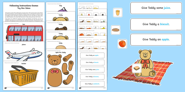 One ICW Toy Box Activity Sheet - ICW, information carrying words, receptive delay, expressive delay, early years language activities,