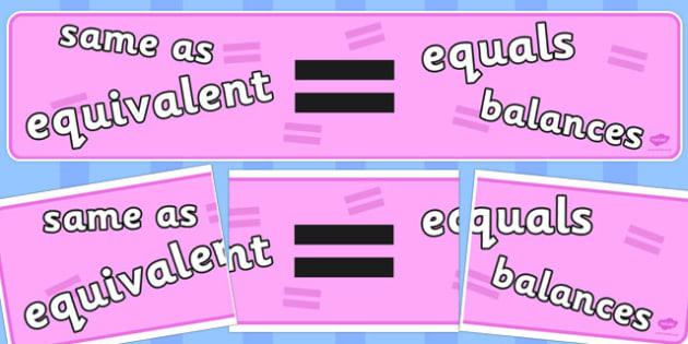 Maths Display Banner Equals - maths, display banner, equals, banner
