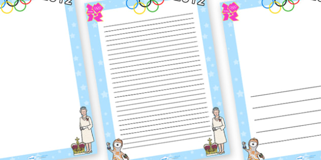 2012 Page Borders - page border, border, frame, writing frame, 2012, year, this year, page borders for 2012, writing template, writing aid, writing, A4 page, page edge, writing activities, lined page, lined pages