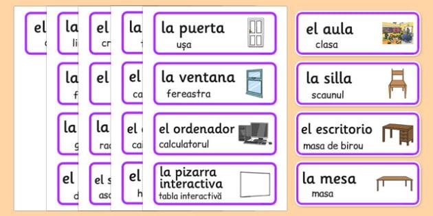 Instructiuni in sala de clasa, Plansa spaniola -romana - reguli scoala grupa