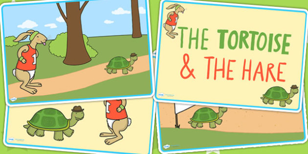 The Tortoise and The Hare Story Sequencing - visual aid, stories