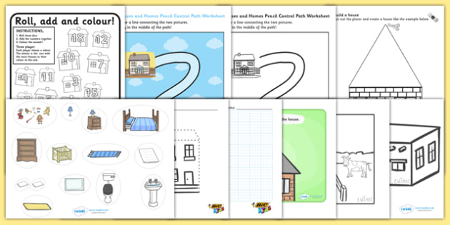 Houses and Homes Themed Fine Motor Skills Pack - seasons, weather