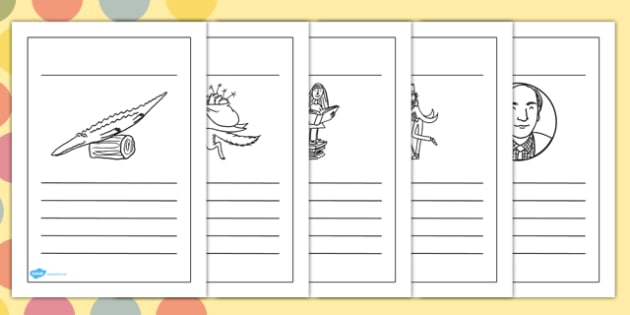 Roald Dahl Themed Writing Frames - writing aid, stories, story