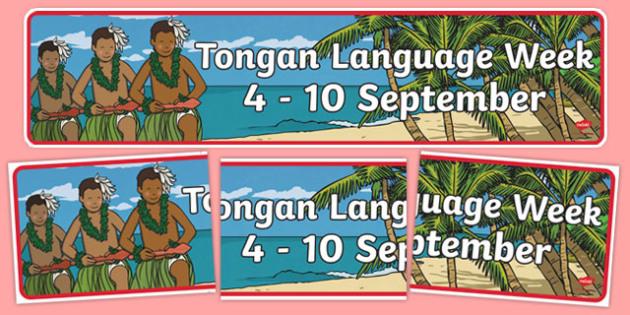 Tongan Language Week Display Banner
