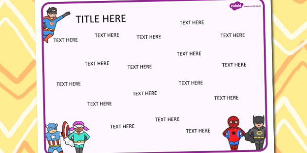 Superheroes Themed Editable Word Mat - literacy, words, writing