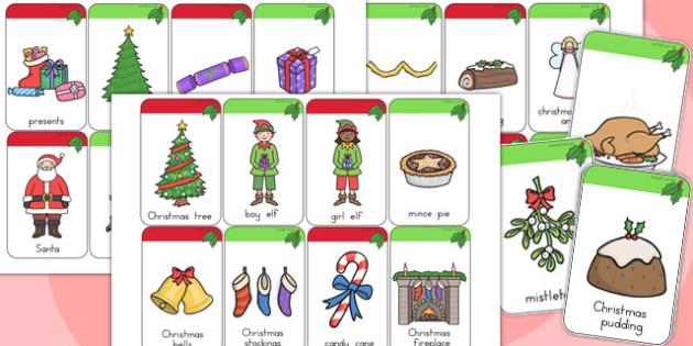Traditional Christmas Flashcards - australia, christmas, cards