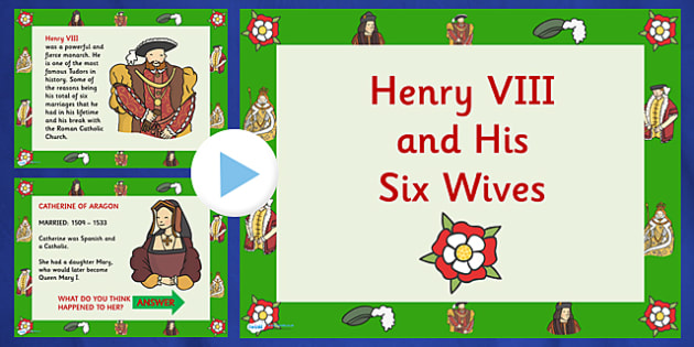 Henry VIII and His Six Wives PowerPoint - henry VIII, henry the eighth, henry 8th, henry eighth, henry VIII wives, henrys wives, the tudors, tudor history