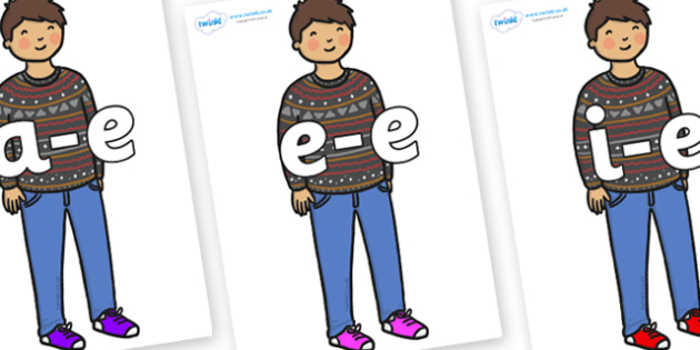 Modifying E Letters on Little Boy - Modifying E, letters, modify, Phase 5, Phase five, alternative spellings for phonemes, DfES letters and Sounds