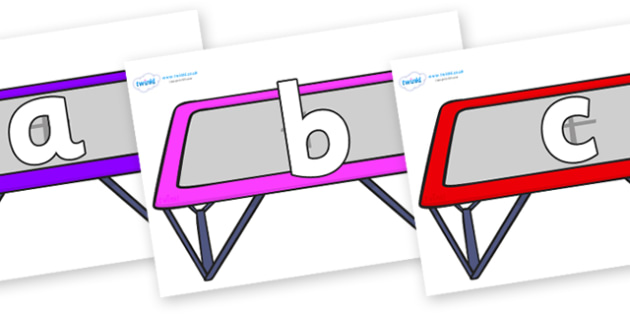 Phoneme Set on Trampolines - Phoneme set, phonemes, phoneme, Letters and Sounds, DfES, display, Phase 1, Phase 2, Phase 3, Phase 5, Foundation, Literacy