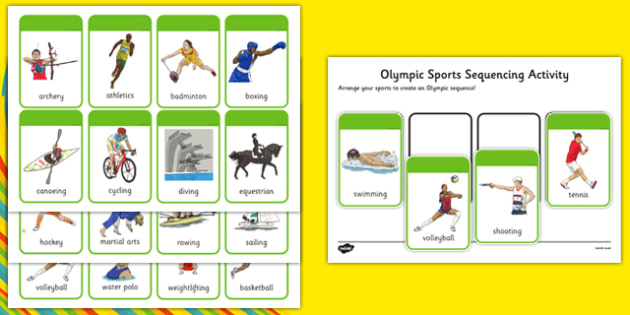 Olympic Sports Sequencing Activity - Olympics, sports, events, sequencing, ordering