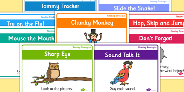 Guided Reading Strategy Landscape Posters - guided reading, strategy, landscape, poster, display