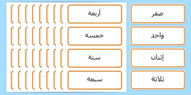بطاقات الأعداد مكتوبة 0-100 - الأعداد، وسائل تعليمية، رياضيات