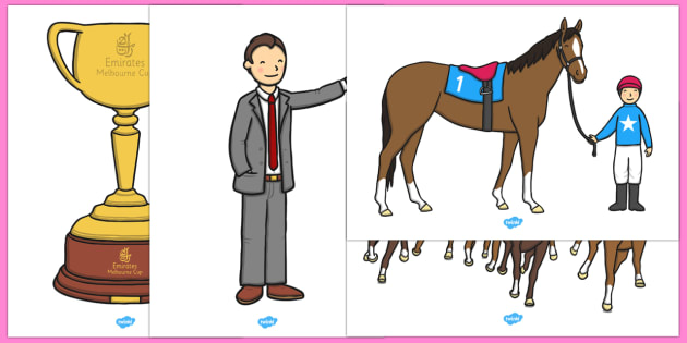 The Melbourne Cup Extra Large Display Cut Outs - australia, melbourne cup, display, cut outs