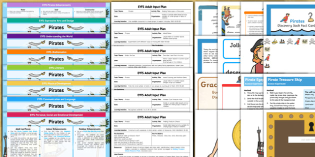 EYFS Pirate Themed Bumper Planning Pack - eyfs, pirate, bumper