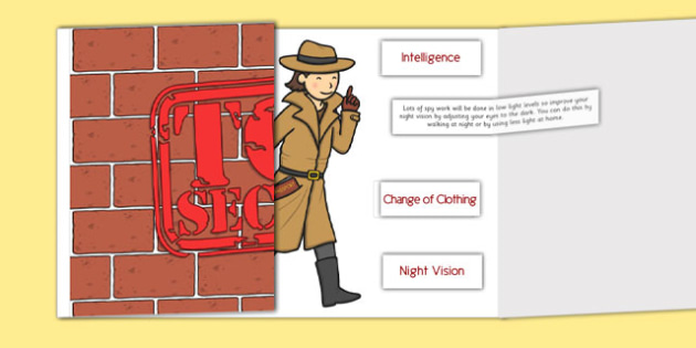 Spies and Espionage Being Prepared Labelling Activity - spies, espionage, being prepared, labelling, home education